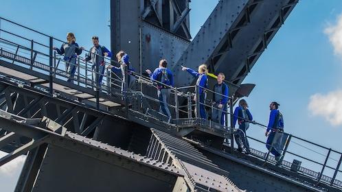 Climbers ascending up the Sydney Harbour Bridge on the BridgeClimb in Sydney