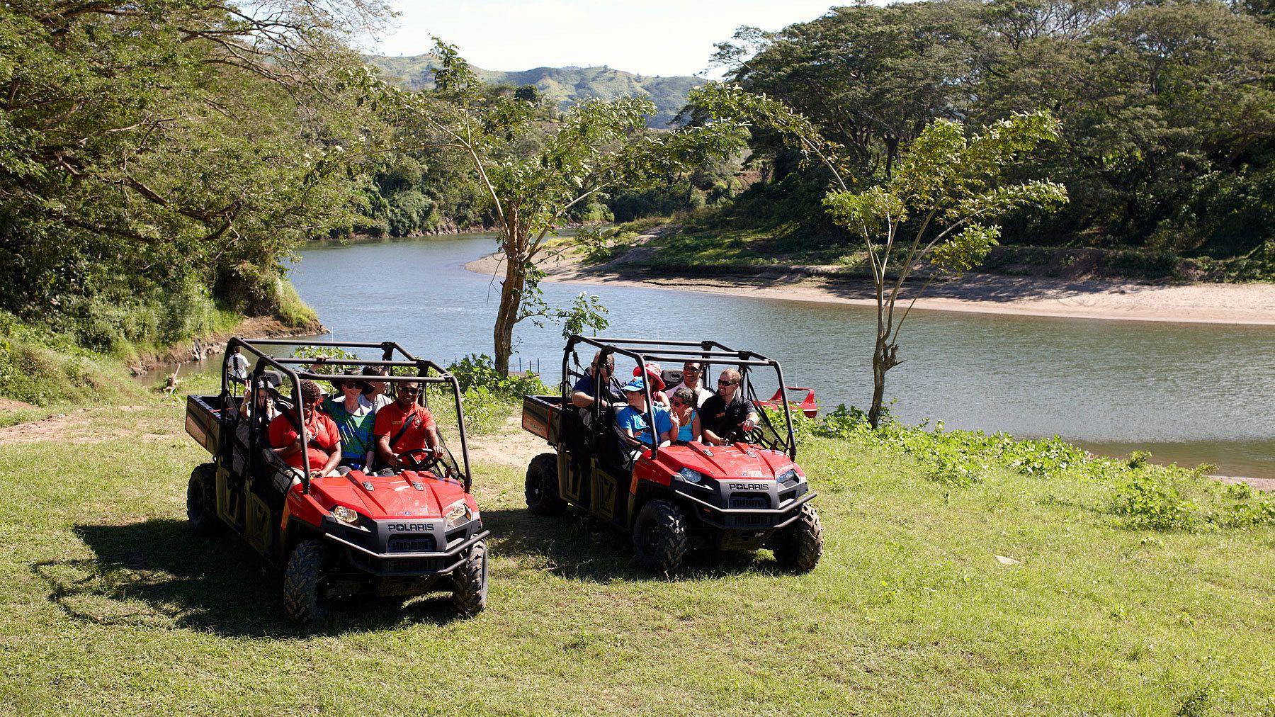 ATV near river in Fiji