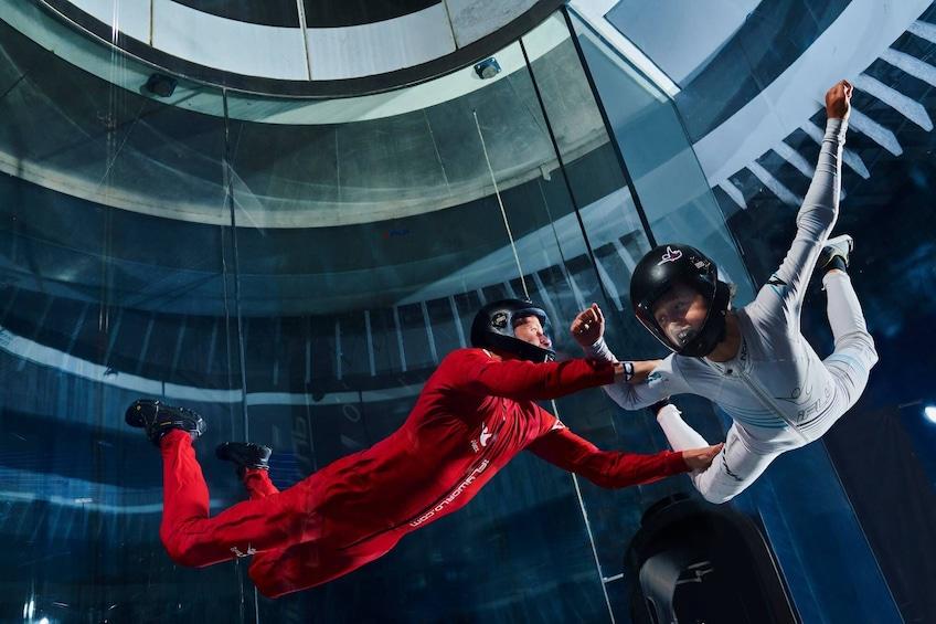 Tandem in flight at Flight Indoor Skydiving Experience