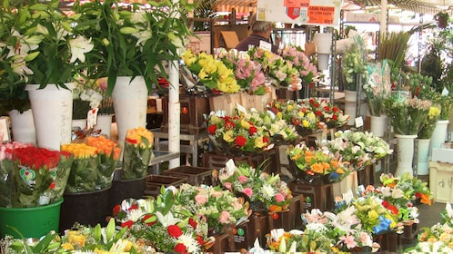 Bouquets of flowers at the market in Cannes