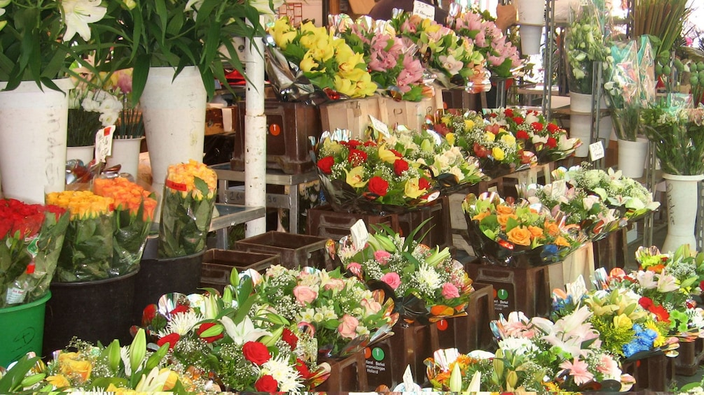 Show item 5 of 5. Bouquets of flowers on sale at the market in Cannes
