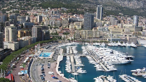 Boats and yachts docked at the bay in Cannes