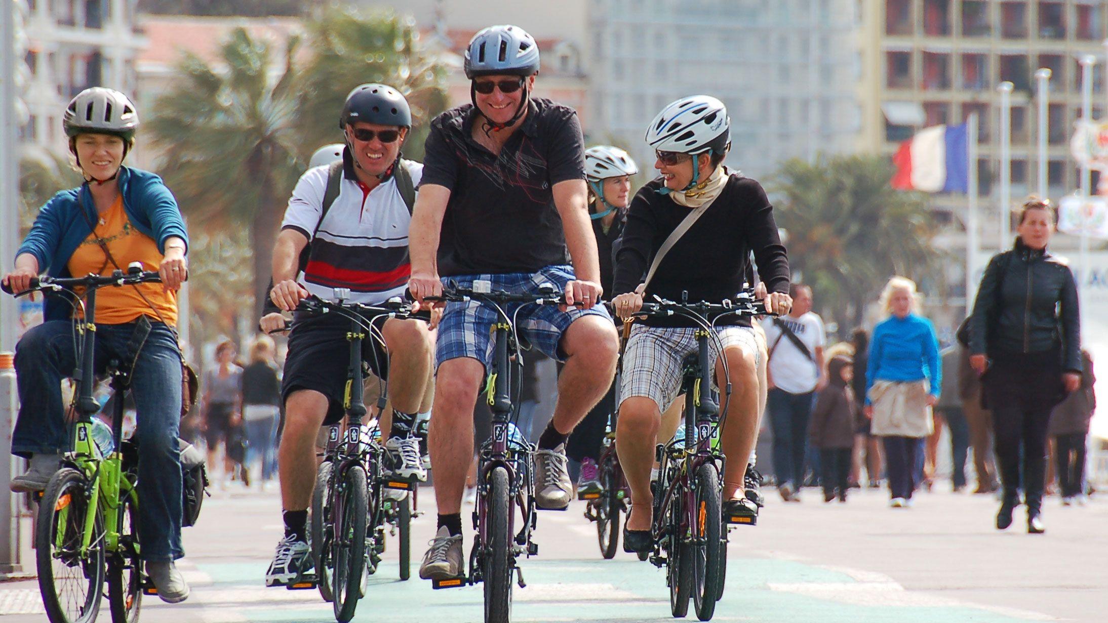 Sykkeltur i Nice (Promenade des Anglais, Colline du Chateau)