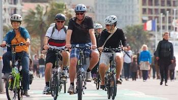 Fahrradtour durch Nizza (Promenade des Anglais, Colline du Château)