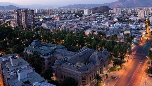 City of Santiago at night