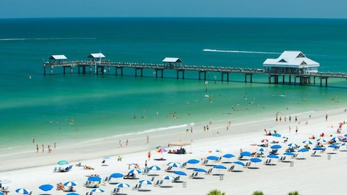 Long pier at Clearwater Beach in Clearwater, Florida.