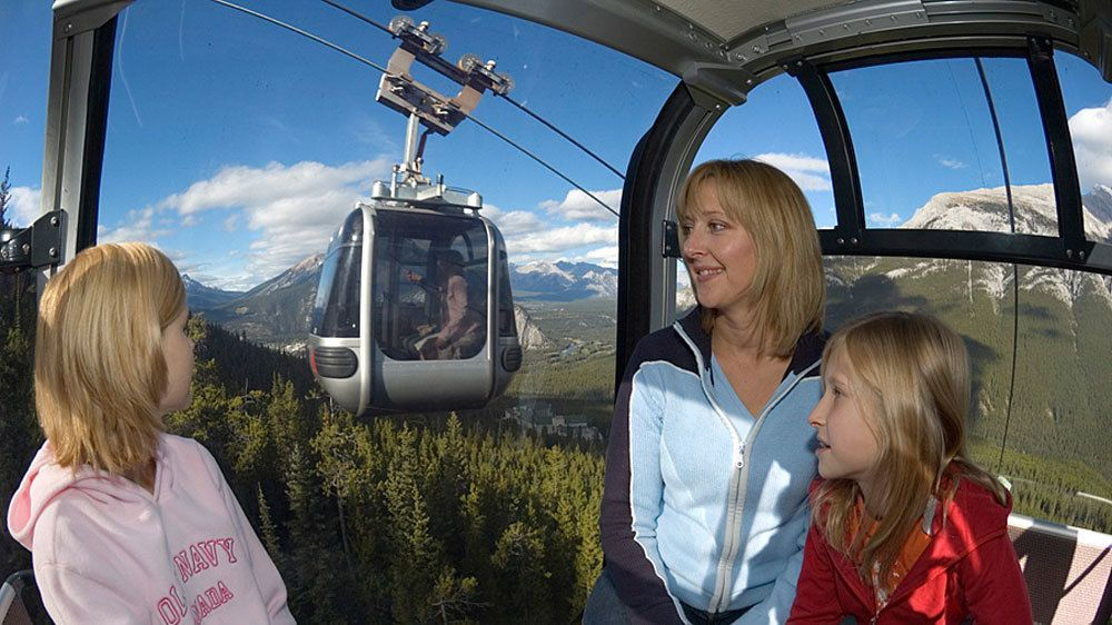 Take a gondola up to Sulphur Mountain to witness spectacular views of the Canadian wilderness