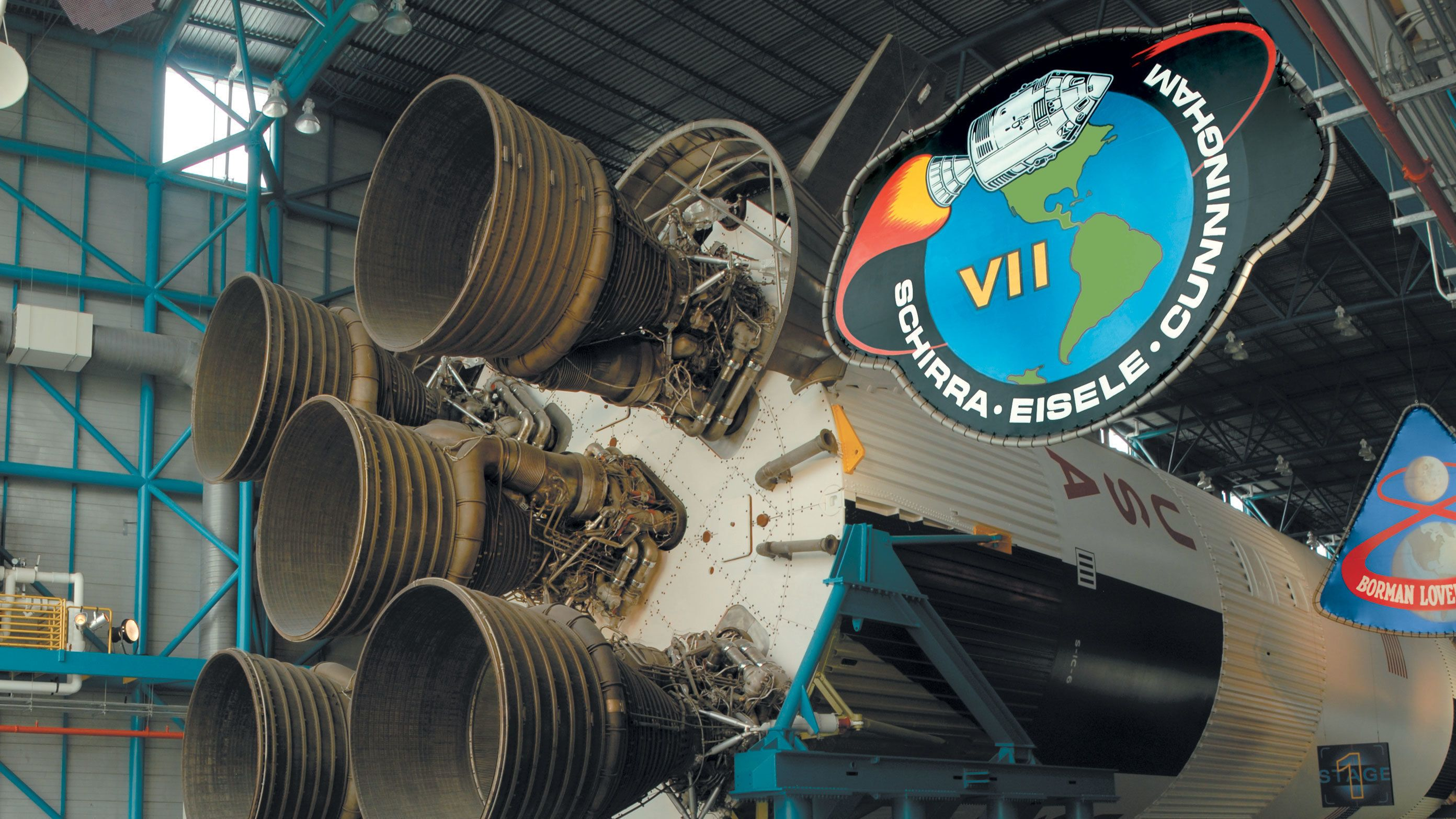 Rocket boosters exhibit at Kennedy Space Center in Orlando