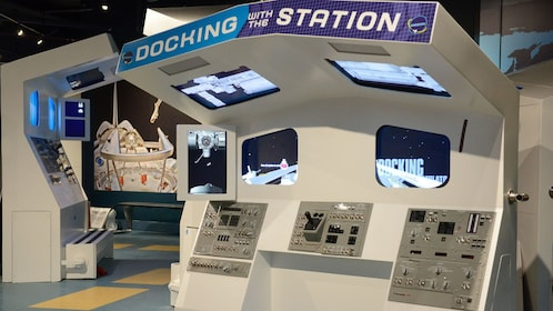 Docking station simulator at Kennedy Space Center in Orlando.