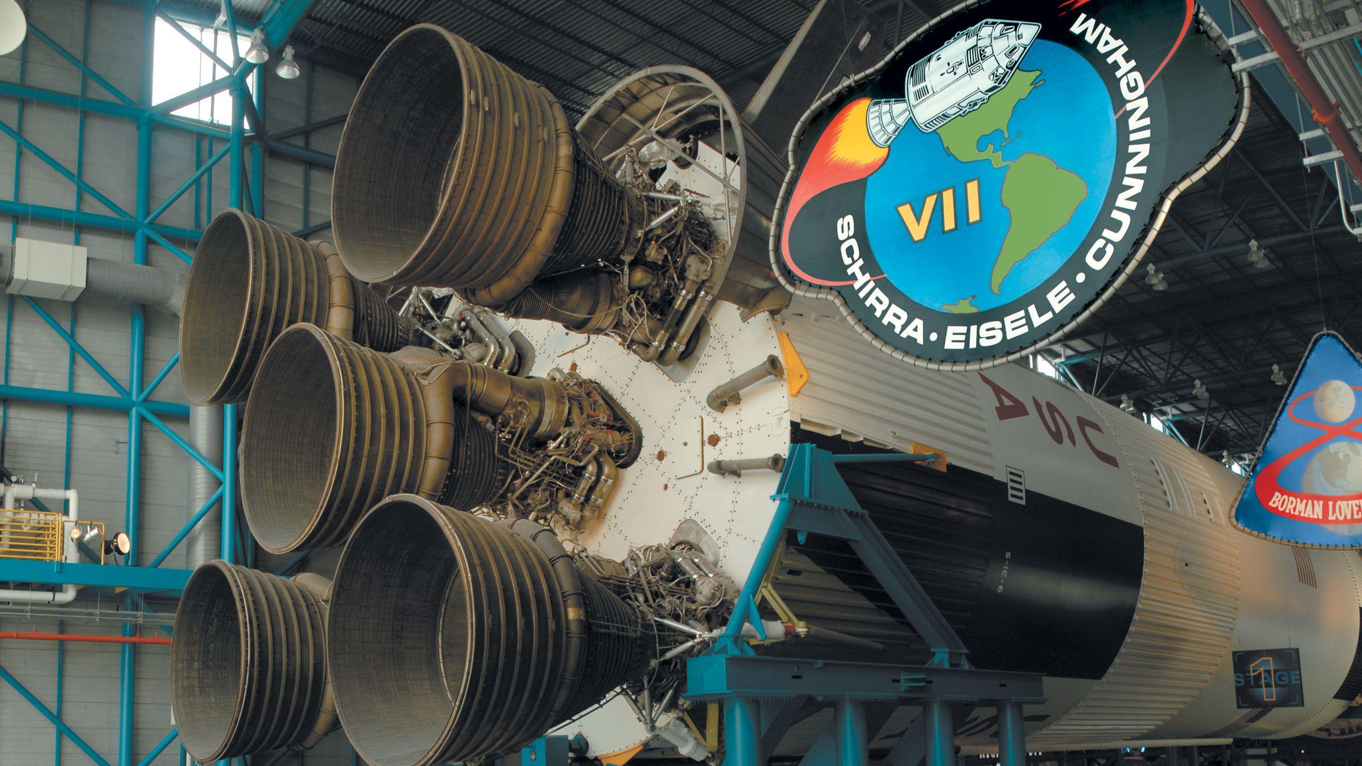 Apollo 7 exhibit at Kennedy Space Center in Orlando.