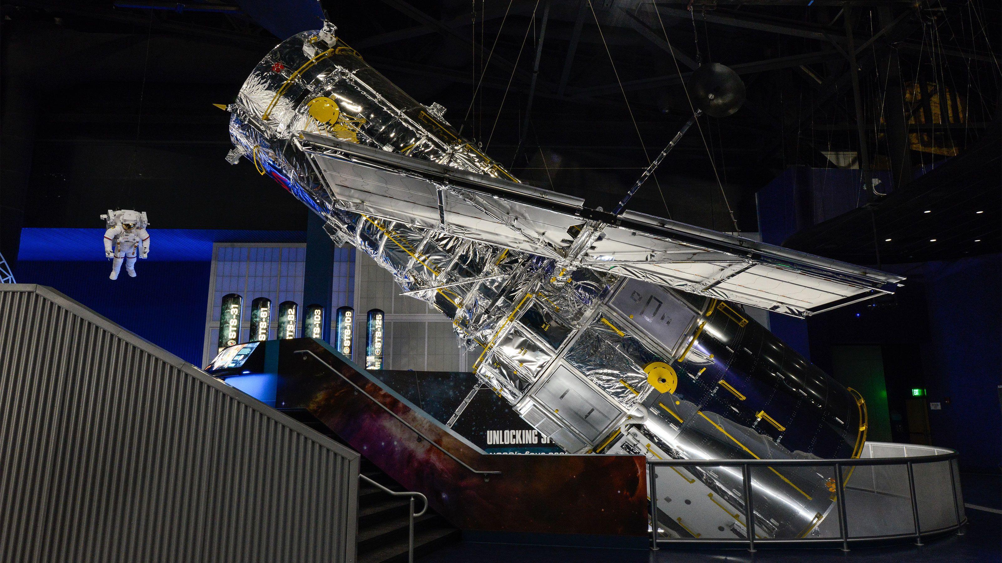 Satellite exhibit at Kennedy Space Center in Orlando.