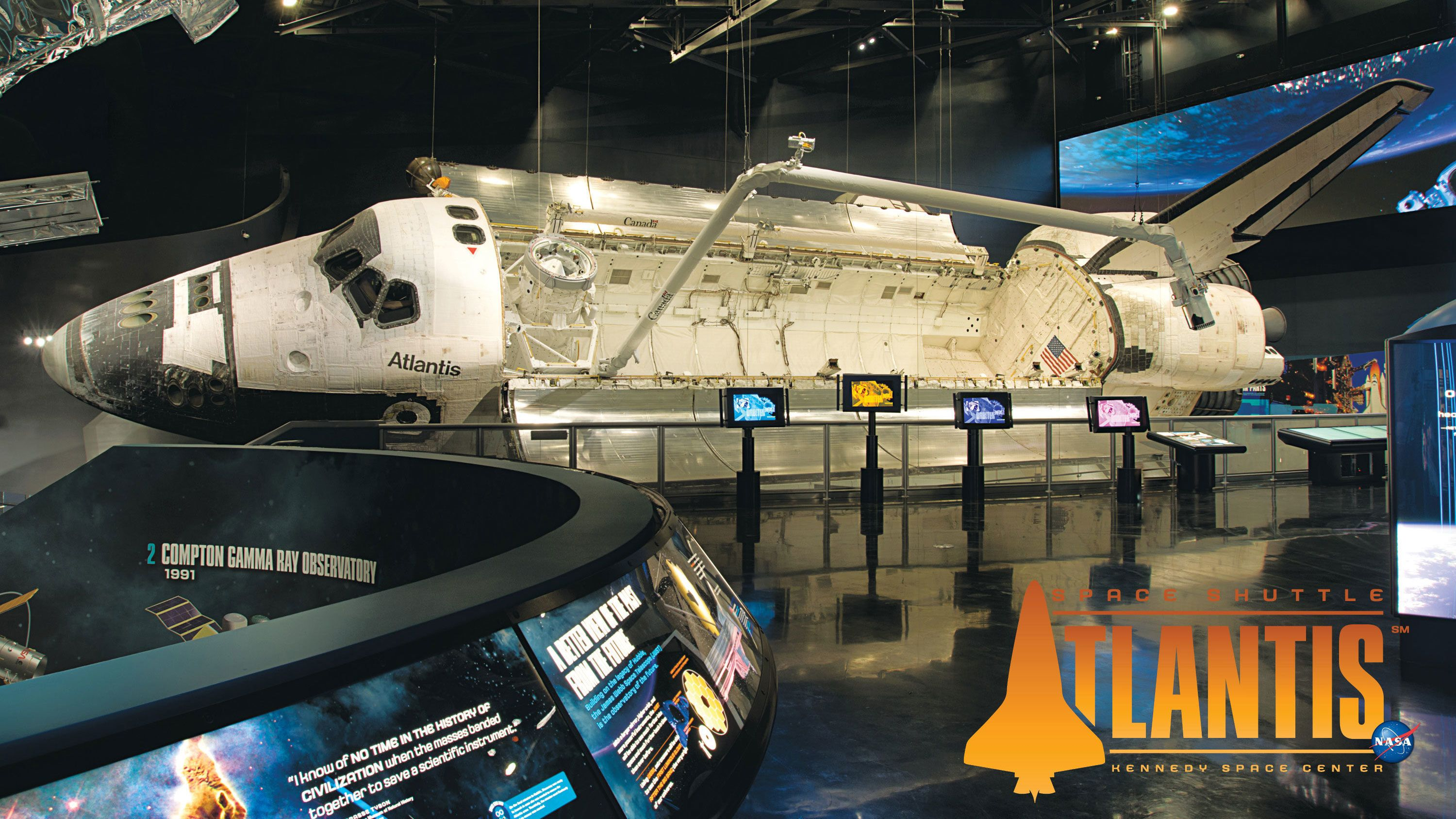 Space Shuttle Atlantis at the Kennedy Space Center in Orlando.