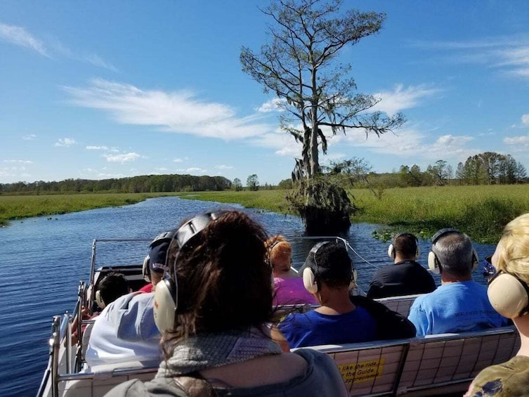 Show item 5 of 10. Airboat Ride with Transportation