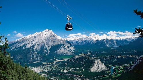 Hitch a ride on a gondola en route to the top of Sulphur Mountain