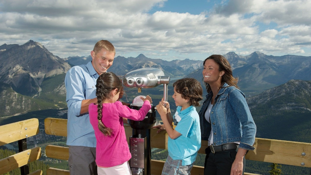 Enjoy majestic views of the Canadian Rockies from Sulphur Mountain