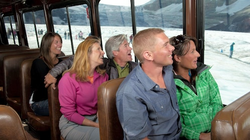 Traverse the Columbian Icefields while riding comfortably in a customized off-road tour bus