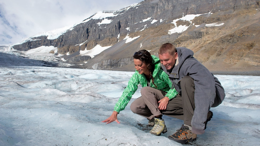 The Columbian Icefields formed over centuries of glacial snow