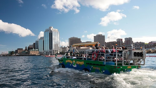 Harbour Hopper with city view in the background
