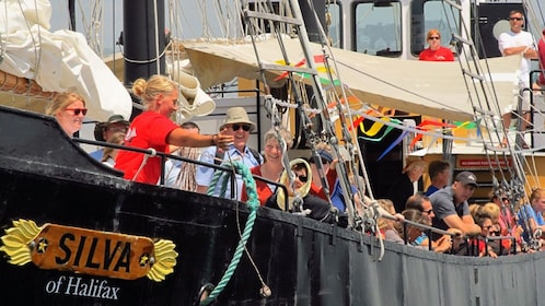 close up of people on Tall Ship Silva