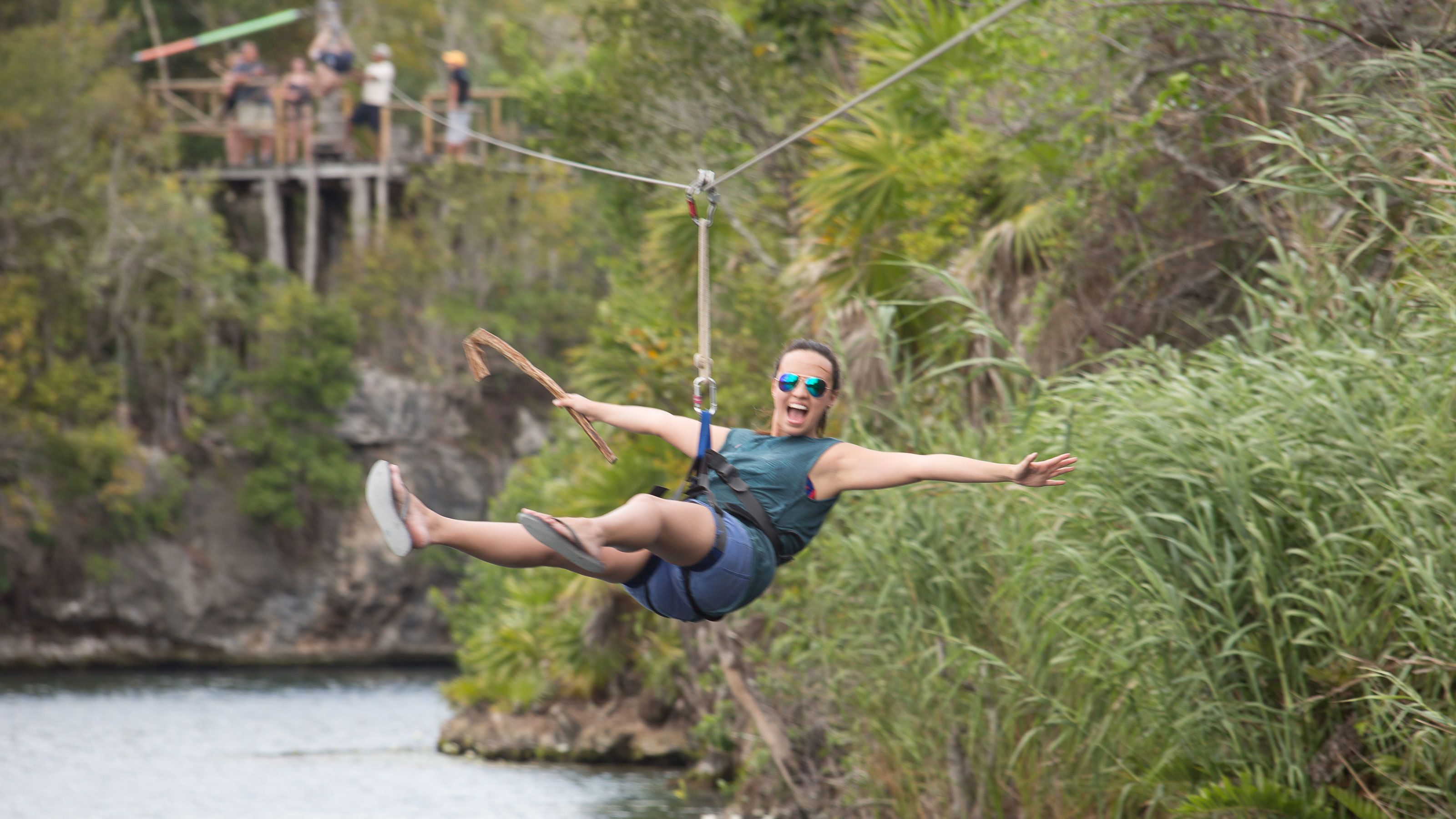 Zipline in the Tankah Eco Adventure Park as you wrap up the journey