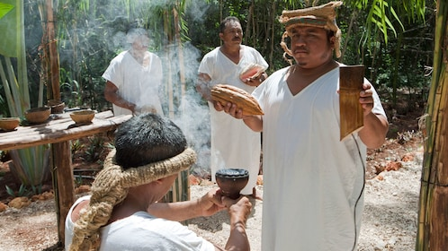 Traditional ritual being performed