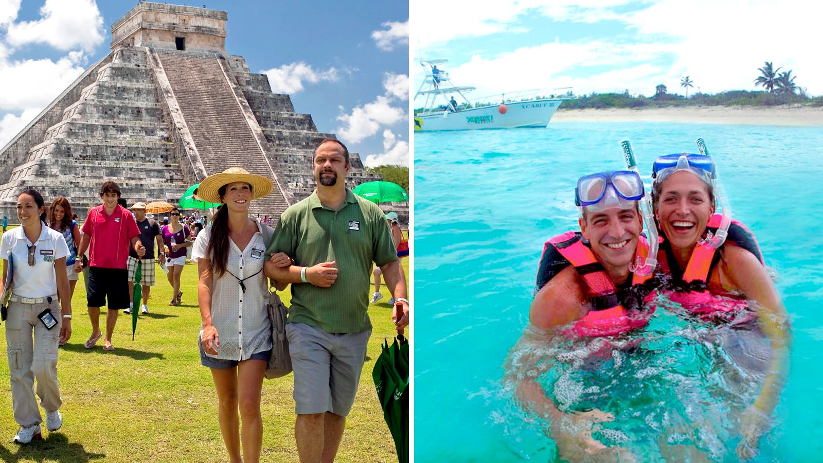 Kombinationsbiljett till Xcaret Park och Chichén Itzá Tur