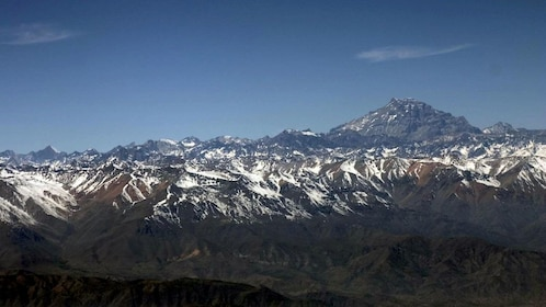 Mount Aconcagua and the Andes mountains