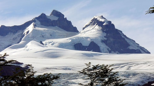 Snowy mountain view in Bariloche