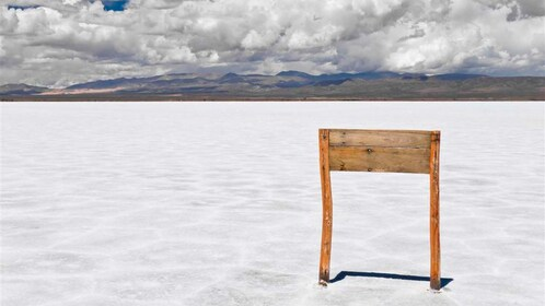 The expansive salt fields of Salinas Grandes in Argentina