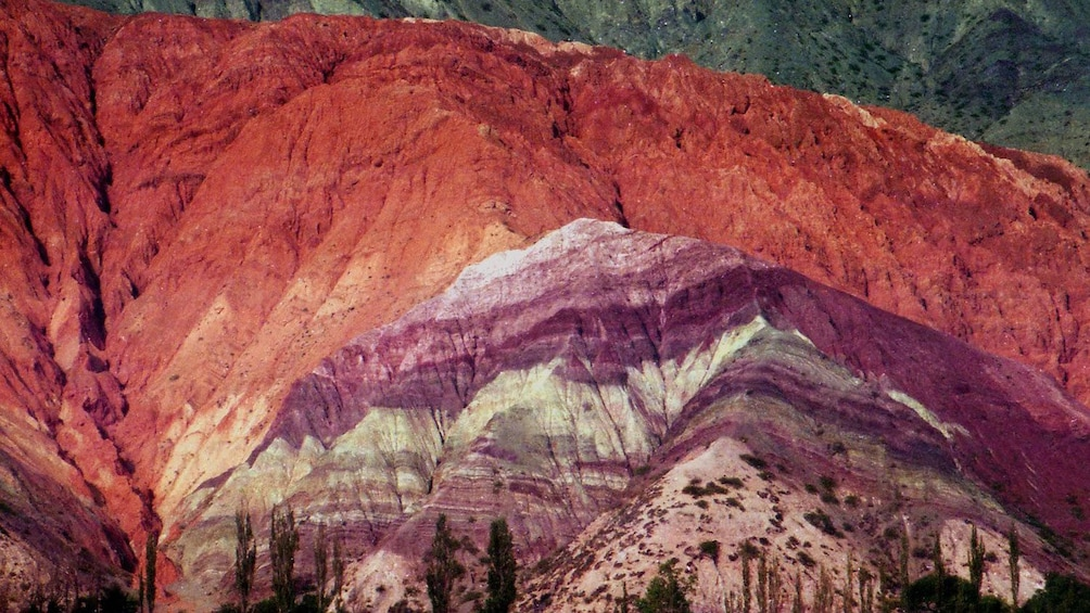 Colorful hues of the Hill of the Seven Colors in Quebrada de Humahuaca