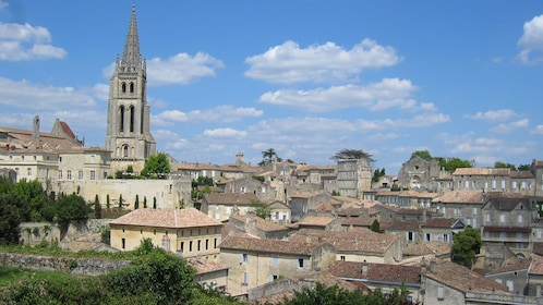 The skyline of the medieval city of Bordeaux