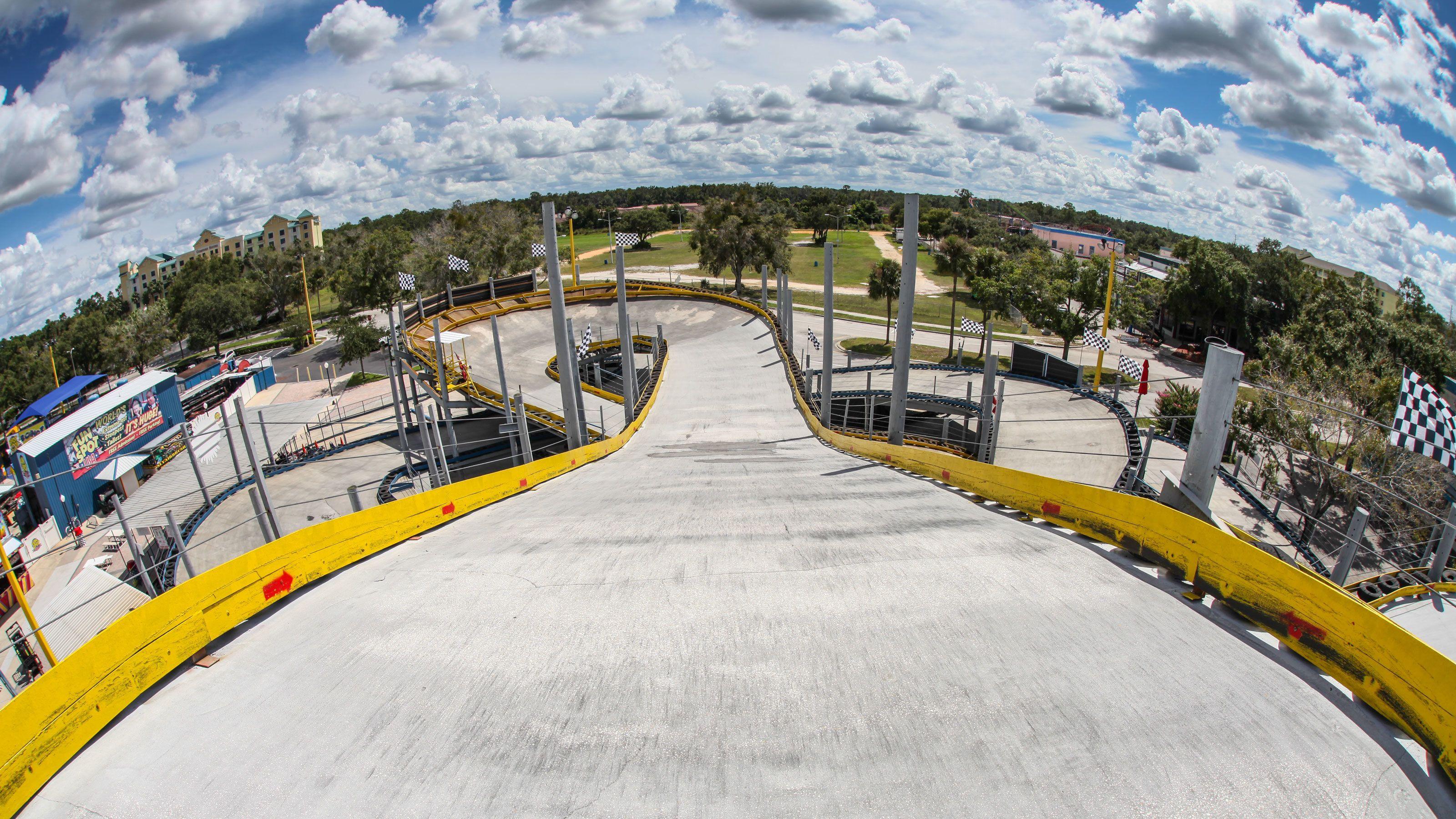 Multi-Level Go Kart track at Fun Spot America in Orlando.