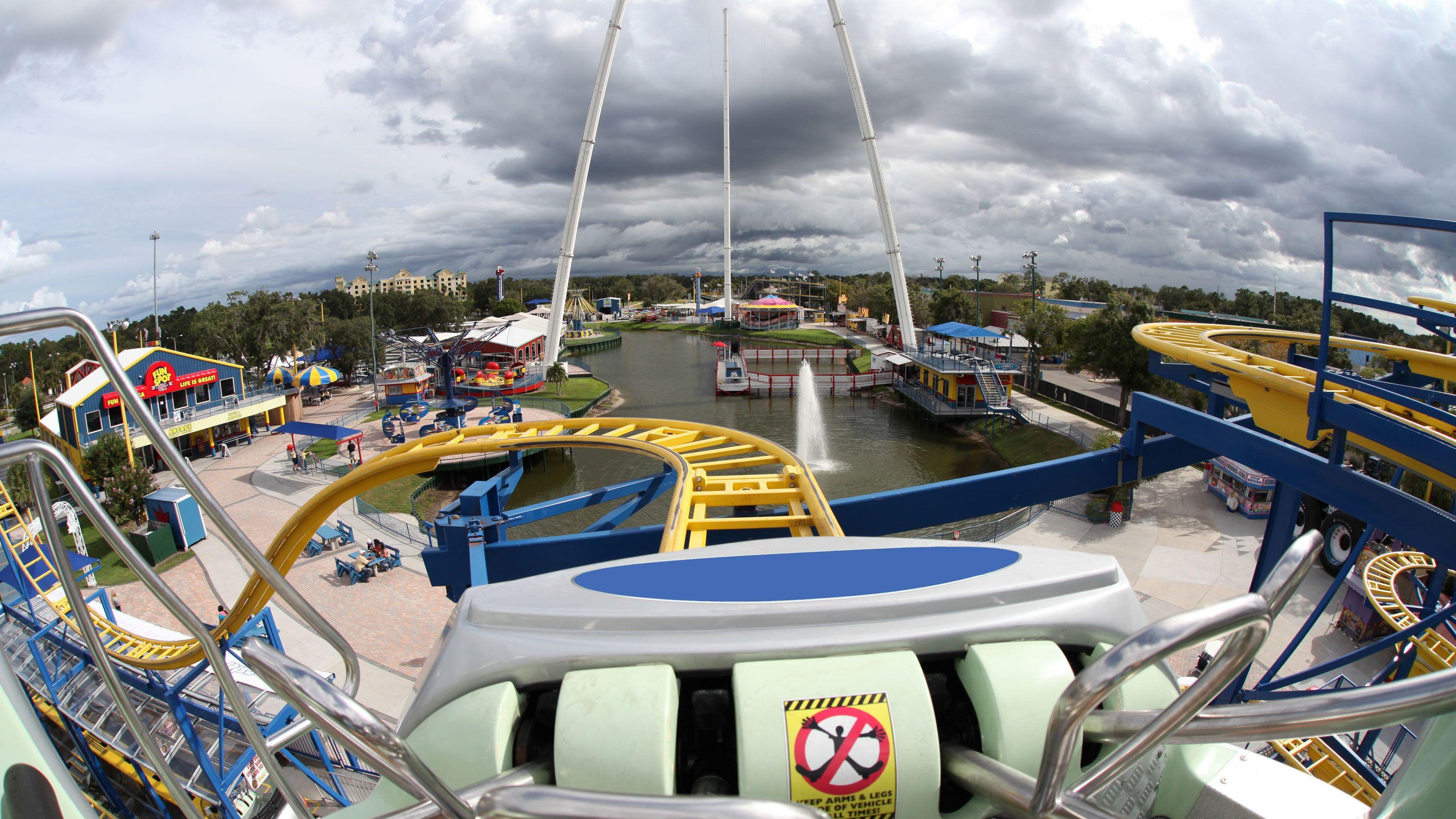 Rollercoaster at Fun Spot America in Orlando.