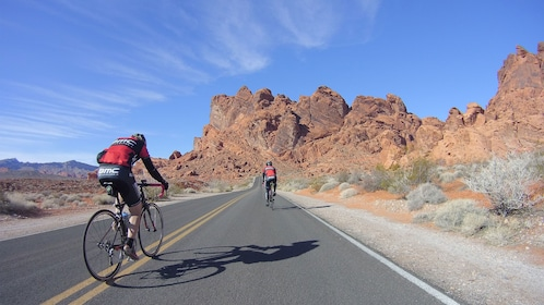 Bike through the Valley of FIre led by a professional tour guide