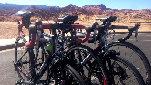 Las Vegas desert pitstop on bike
