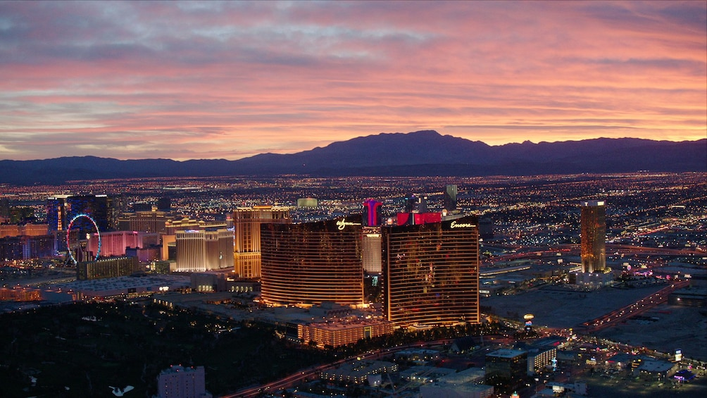 Show item 7 of 7. Landscape view of an evening in Las Vegas