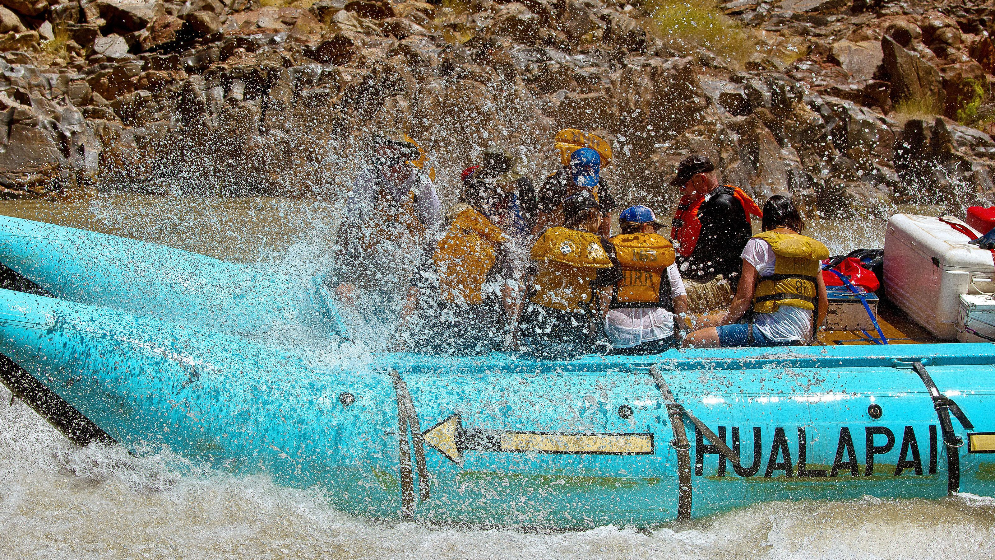 Whitewater raft trip through the Colorado River
