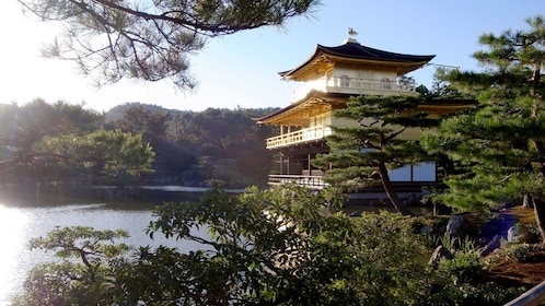 The Kinkaku Ji Temple at the waters in Japan