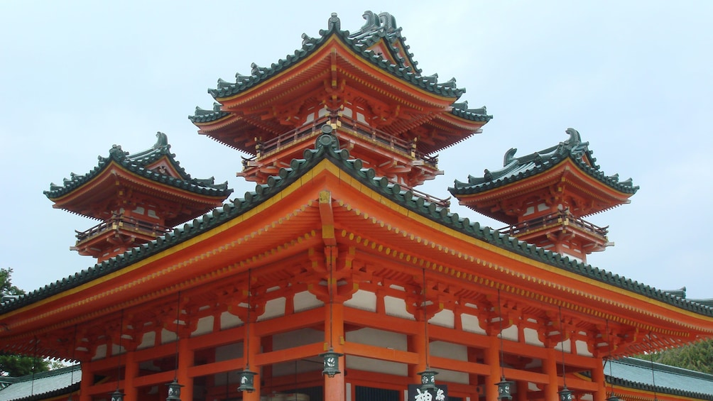 Show item 2 of 5. A red Kyoto temple in Japan