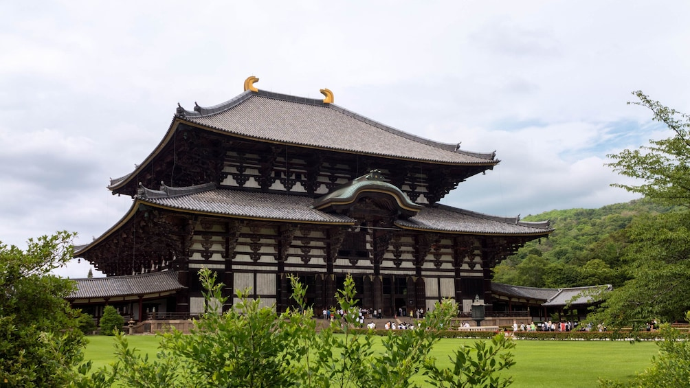 Show item 3 of 5. Visiting a large temple in Japan