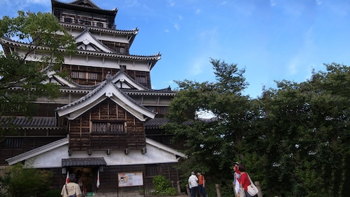 visiting the Hiroshima Castle in Japan