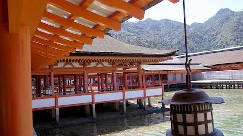 elaborate walkways above water in Japan