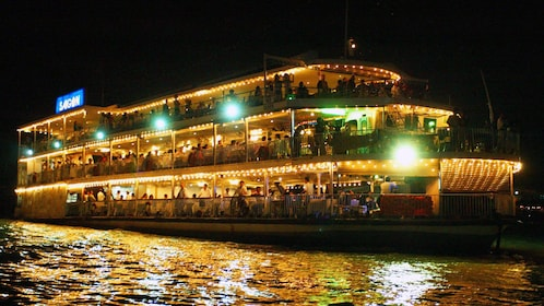 Panoramic view of the Saigon River Dinner Cruise in Ho Chi Minh City