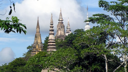 View of the main hill of Oudong in Phnom Penh