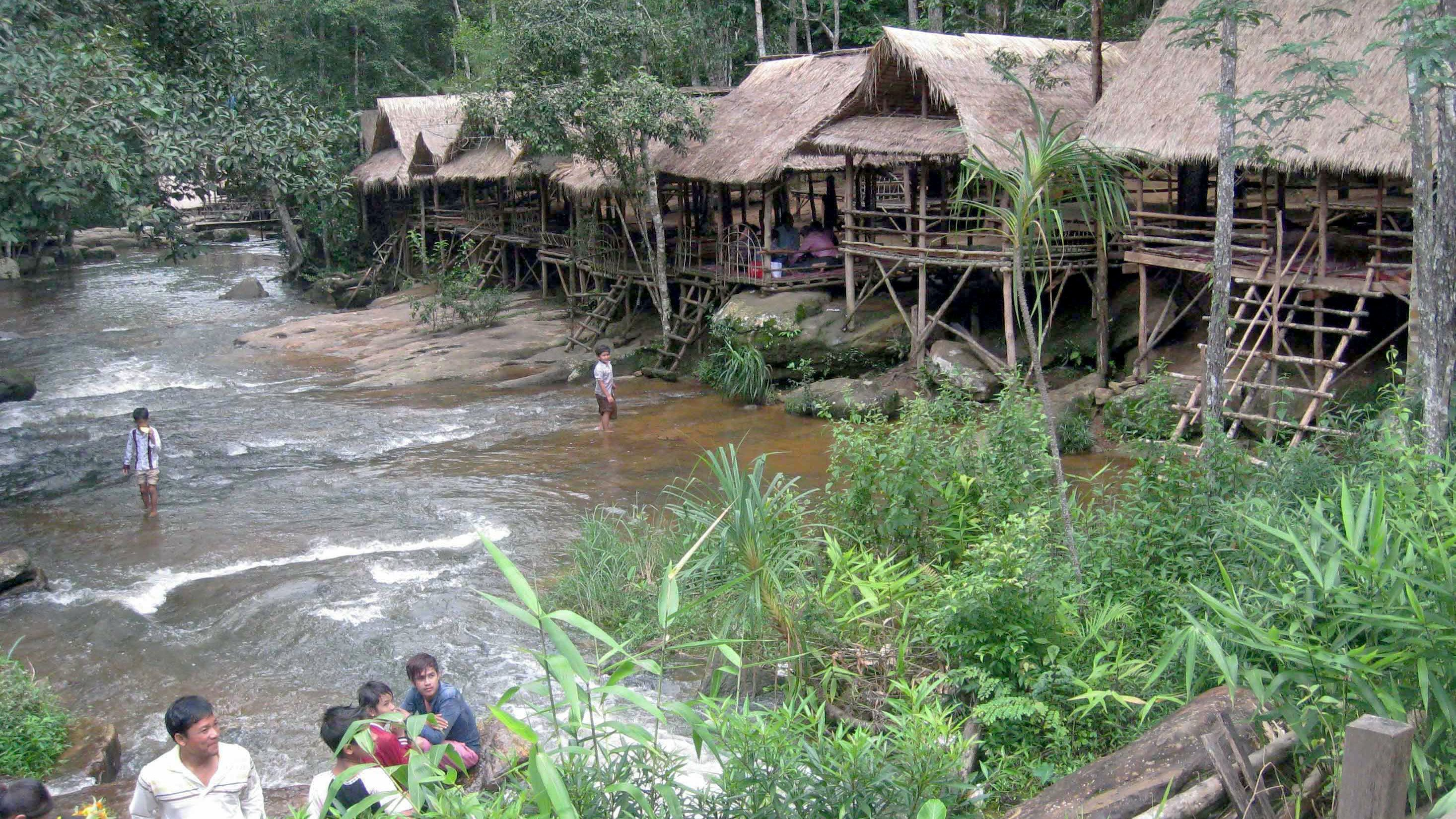 View of the village people and resting huts at Kirirom National Park in Phnom Penh