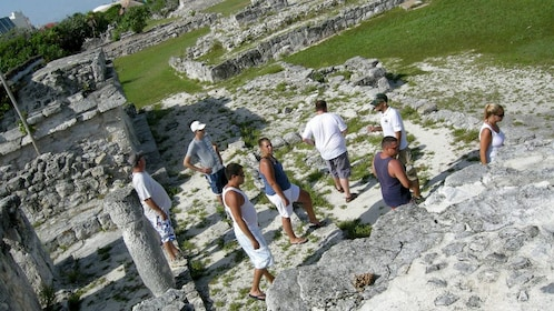 Tour group exploring Cancun during the day