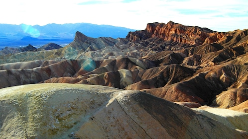 Experience panoramic views within Death Valley at sunset