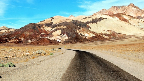 Journey through North America's lowest elevation point on road through Death Valley