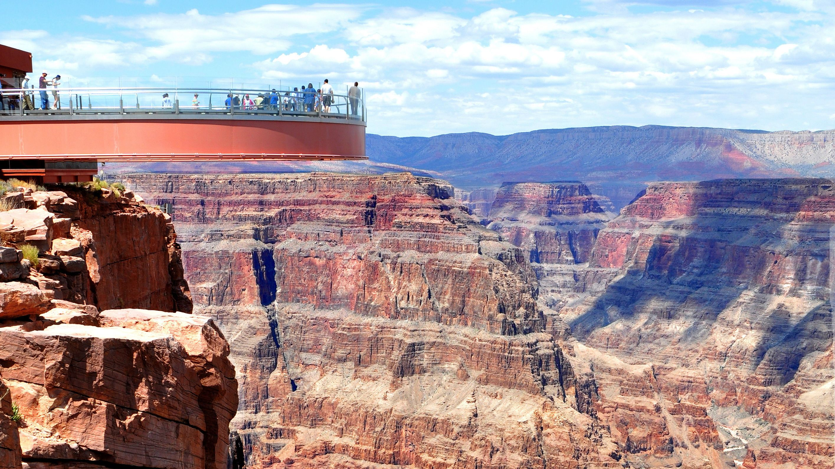 Grand Canyon Skywalk offers a once in a lifetime view down the canyon walls
