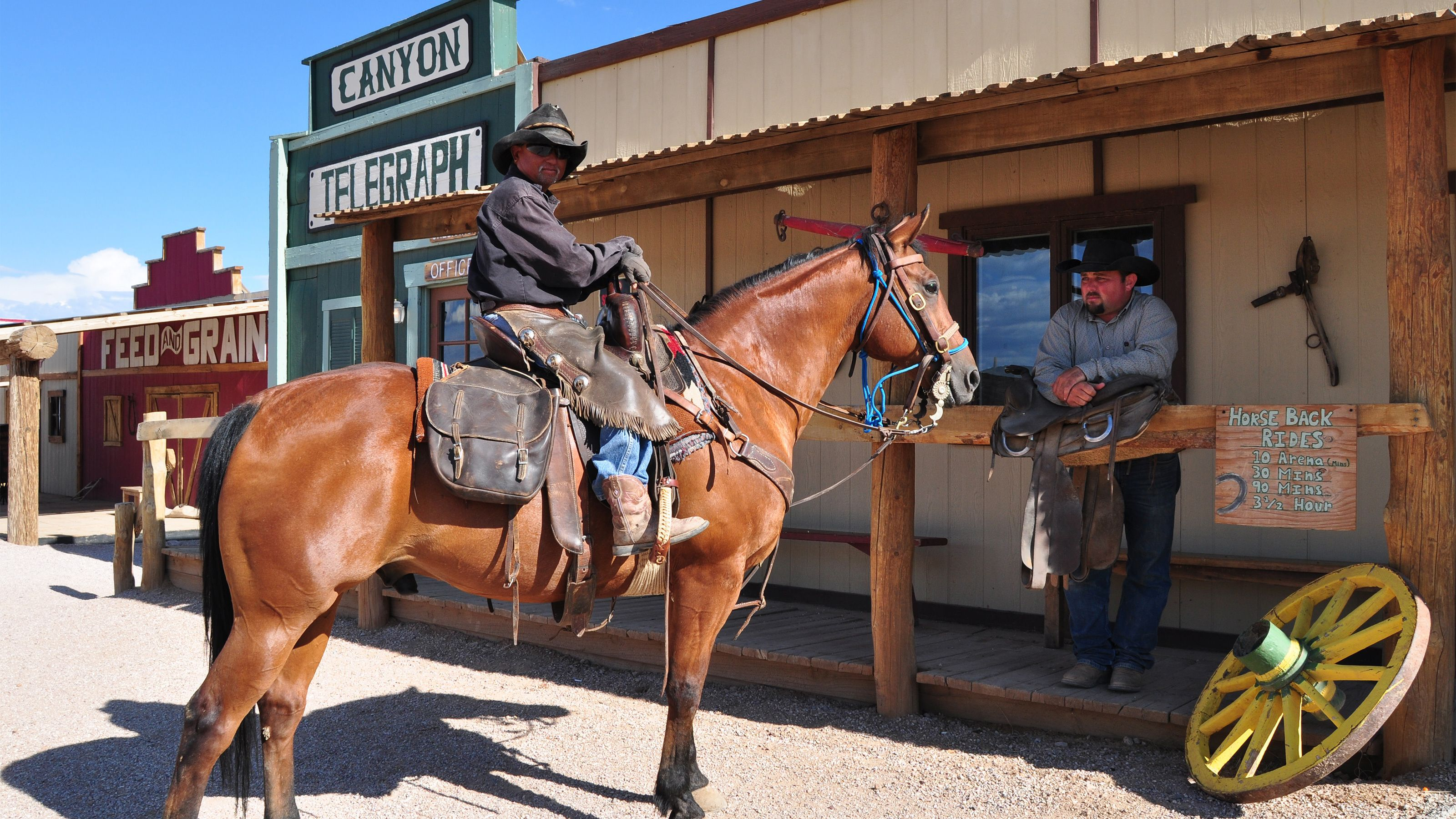 Visit Hualapai Ranch for a chance to see Native Americans and cowboys on horseback